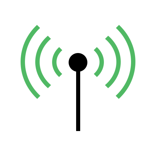 Graphic of wireless connection